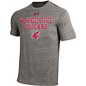 Under Armour Men's Washington State Cougars Grey Tri Blend Short Sleeve T-Shirt