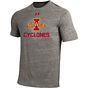 Under Armour Men's Iowa State Cyclones Grey Tri Blend Short Sleeve T-Shirt