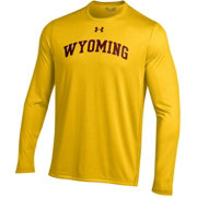 Under Armour Men's Wyoming Cowboys Gold Long Sleeve Tech Performance T-Shirt