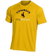 Under Armour Men's Wyoming Cowboys Gold Tech Performance T-Shirt