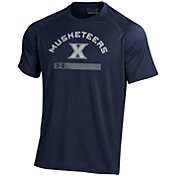 Under Armour Men's Xavier Musketeers Blue Tech Performance T-Shirt