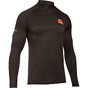 Under Armour NFL Combine Authentic Men's Cleveland Browns Novelty Tech Brown Quarter-Zip Pullover