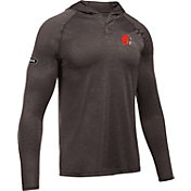 Under Armour NFL Combine Authentic Men's Cleveland Browns Novelty Tech Brown Hoodie