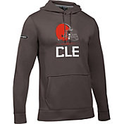 Under Armour NFL Combine Authentic Men's Cleveland Browns Lockup Armour Fleece Brown Hoodie