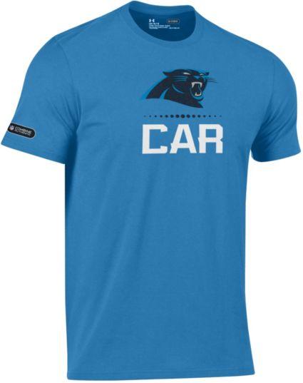 Under Armour NFL Combine Authentic Men s Carolina Panthers Lockup Cotton  Blue T-Shirt. noImageFound 3baeacd6a