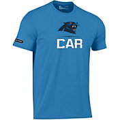 cbd4f0f6d Product Image · Under Armour NFL Combine Authentic Men s Carolina Panthers  Lockup Cotton Blue T-Shirt