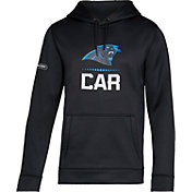 Under Armour NFL Combine Authentic Men's Carolina Panthers Lockup Armour Fleece Black Hoodie