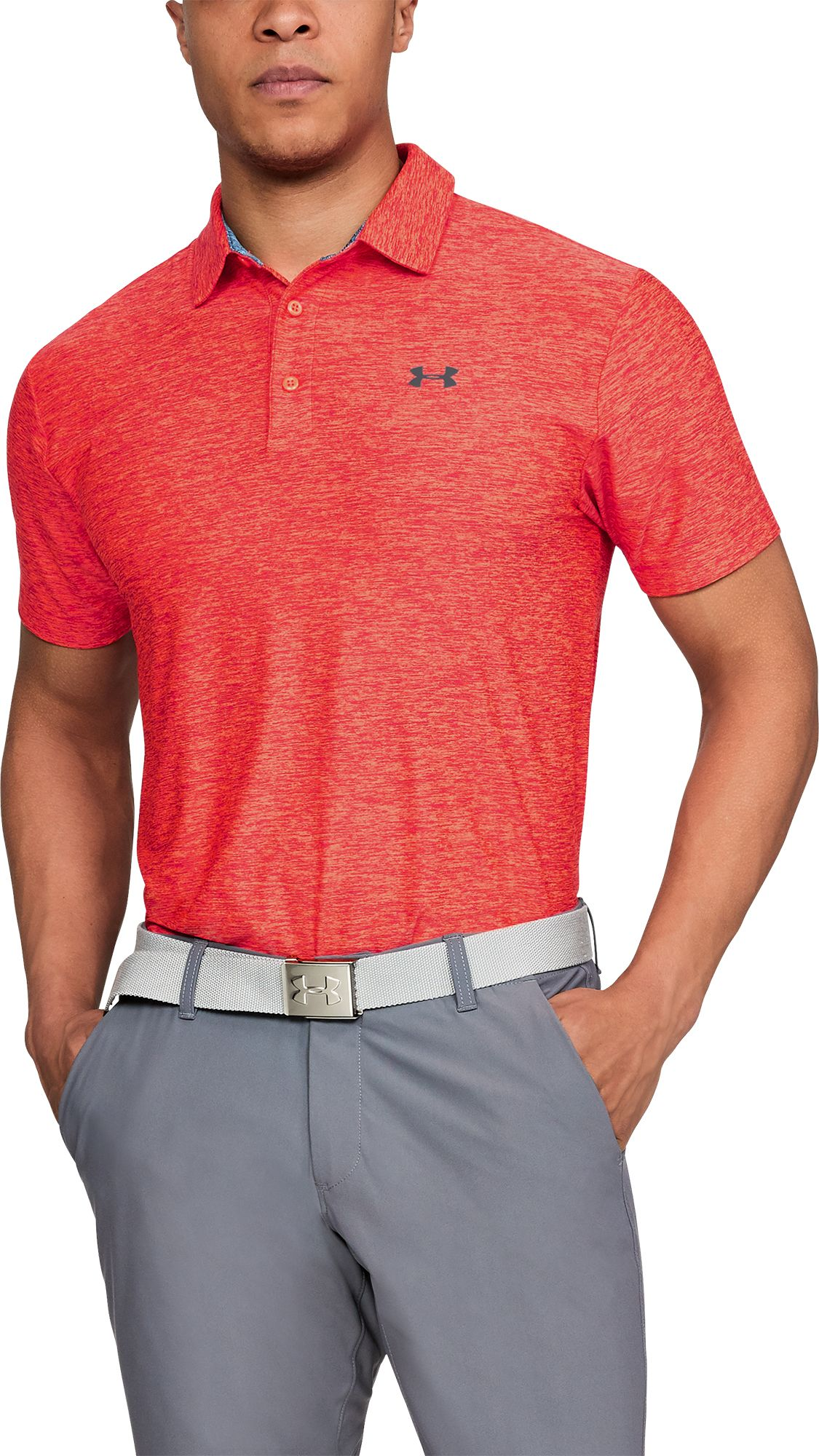 Under Armour Mens Playoff Solid Golf Polo Summer Cook