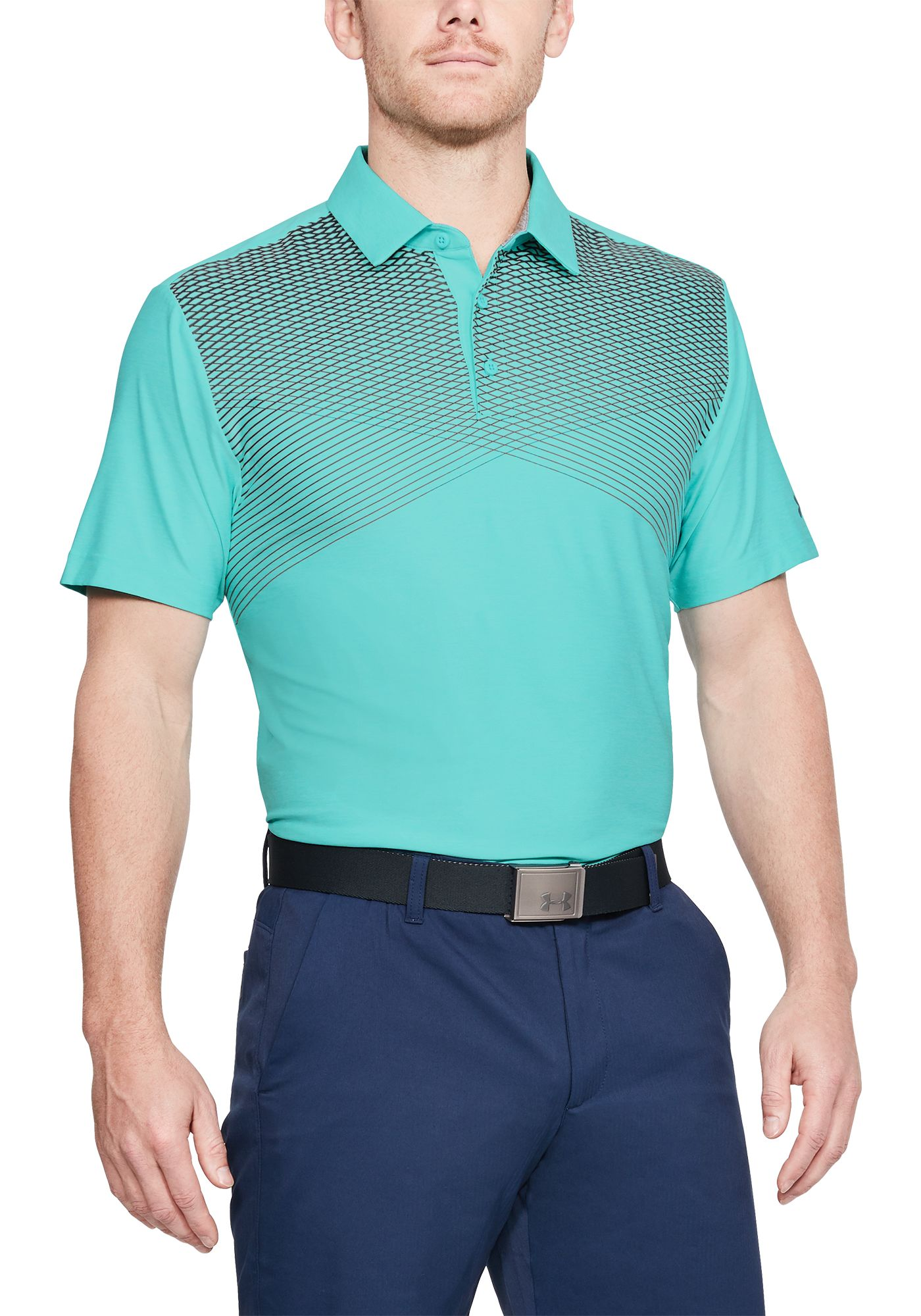 Under Armour Men's Playoff Line Print Golf Polo