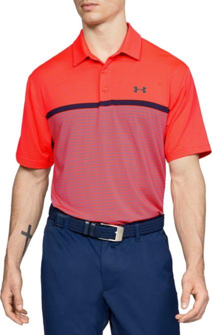 Under Armour Men's Playoff Super Stripe Golf Polo