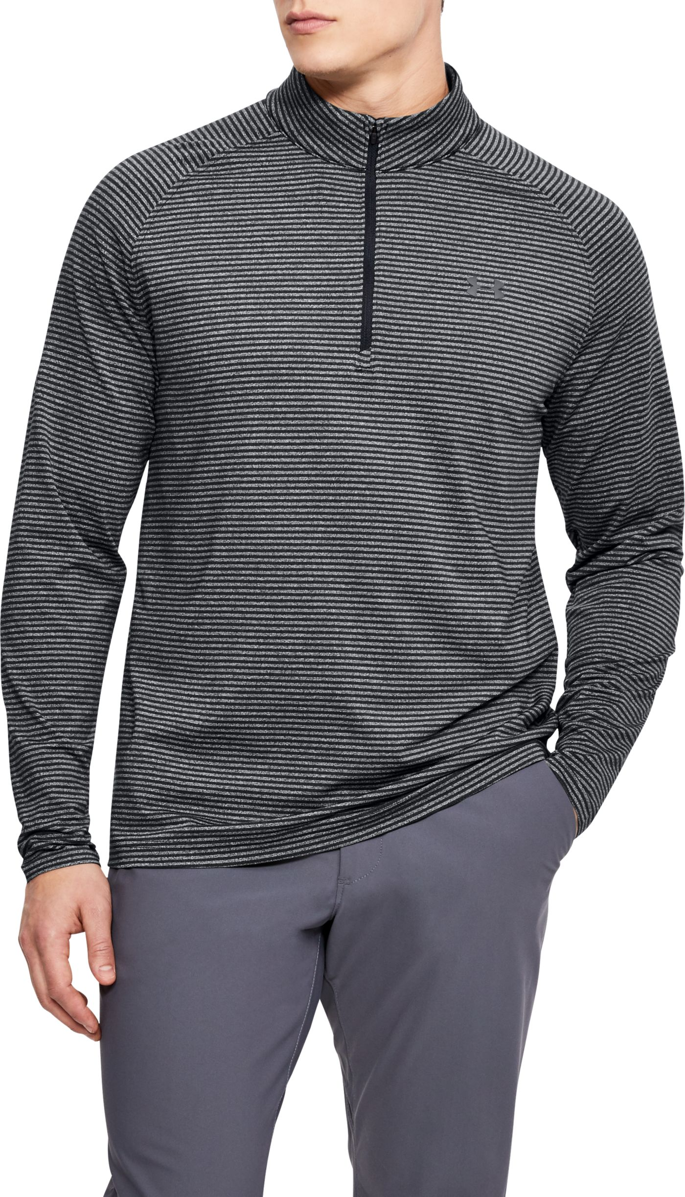 Under Armour Men's Playoff Core Stripe Golf 1/4-Zip – Extended Sizes