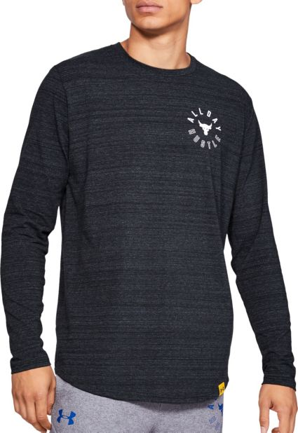 f94be2b5cec Under Armour Men s Project Rock All Day Hustle Graphic Long Sleeve Shirt.  noImageFound
