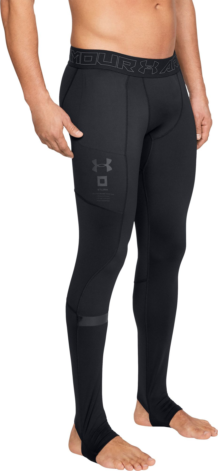 Under Armour Men's Storm Cyclone ColdGear Leggings, Size: Small, Black thumbnail