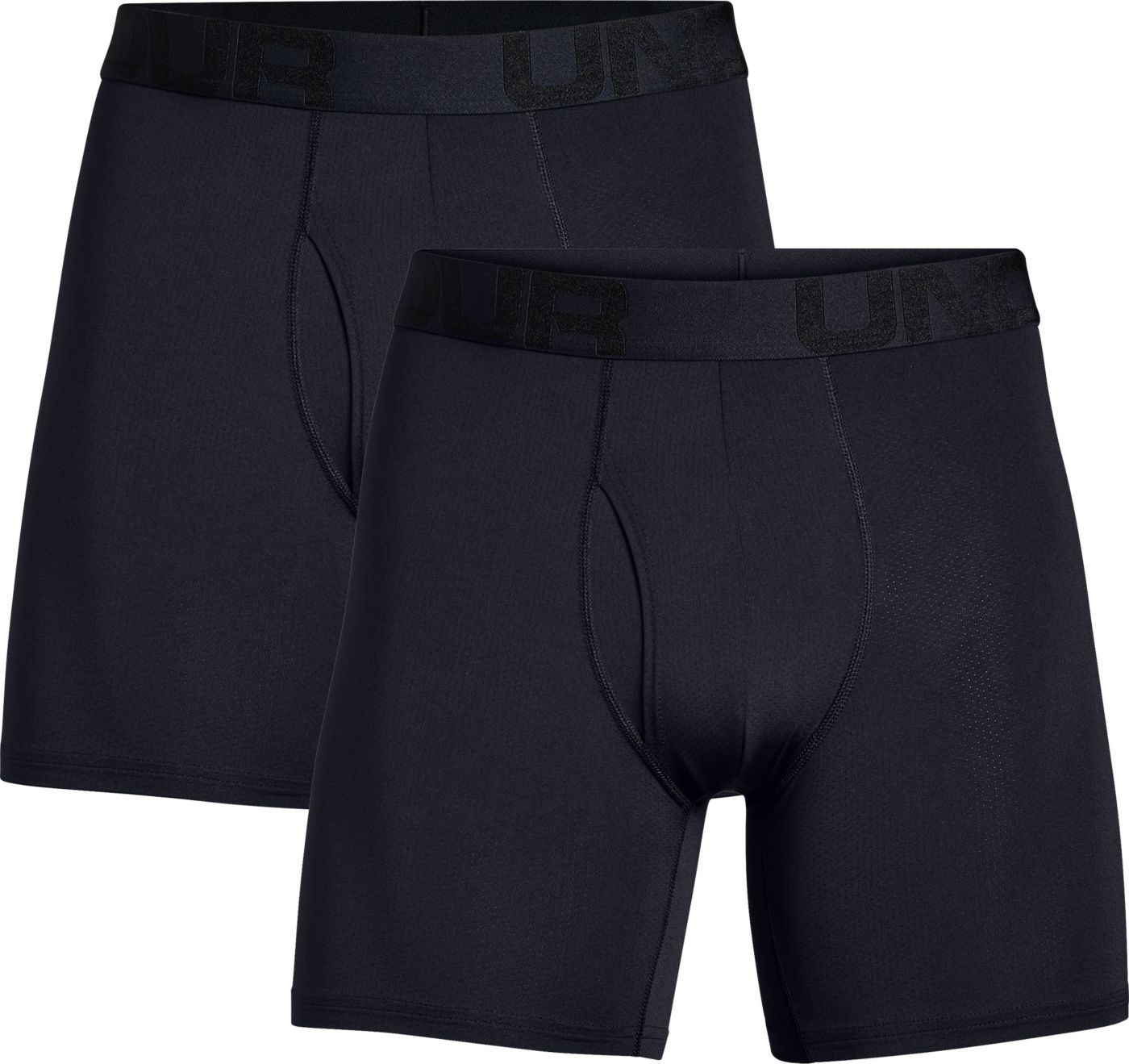 Under Armour Men's Tech Mesh 6'' Boxer Briefs - 2 Pack (Regular and Big & Tall)
