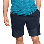 Under Armour Men's Microthread Terry Shorts in Academy/Black
