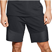 Under Armour Men's Microthread Terry Shorts in Black/Black