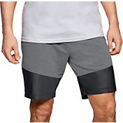 Under Armour Men's Microthread Terry Shorts in Graphite/Black