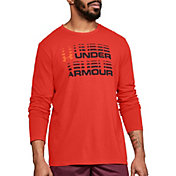 Under Armour Men's Wordmark Glitch Graphic Long Sleeve Shirt
