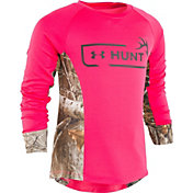 Under Armour Toddler Girls' Hunt Logo Long Sleeve Shirt