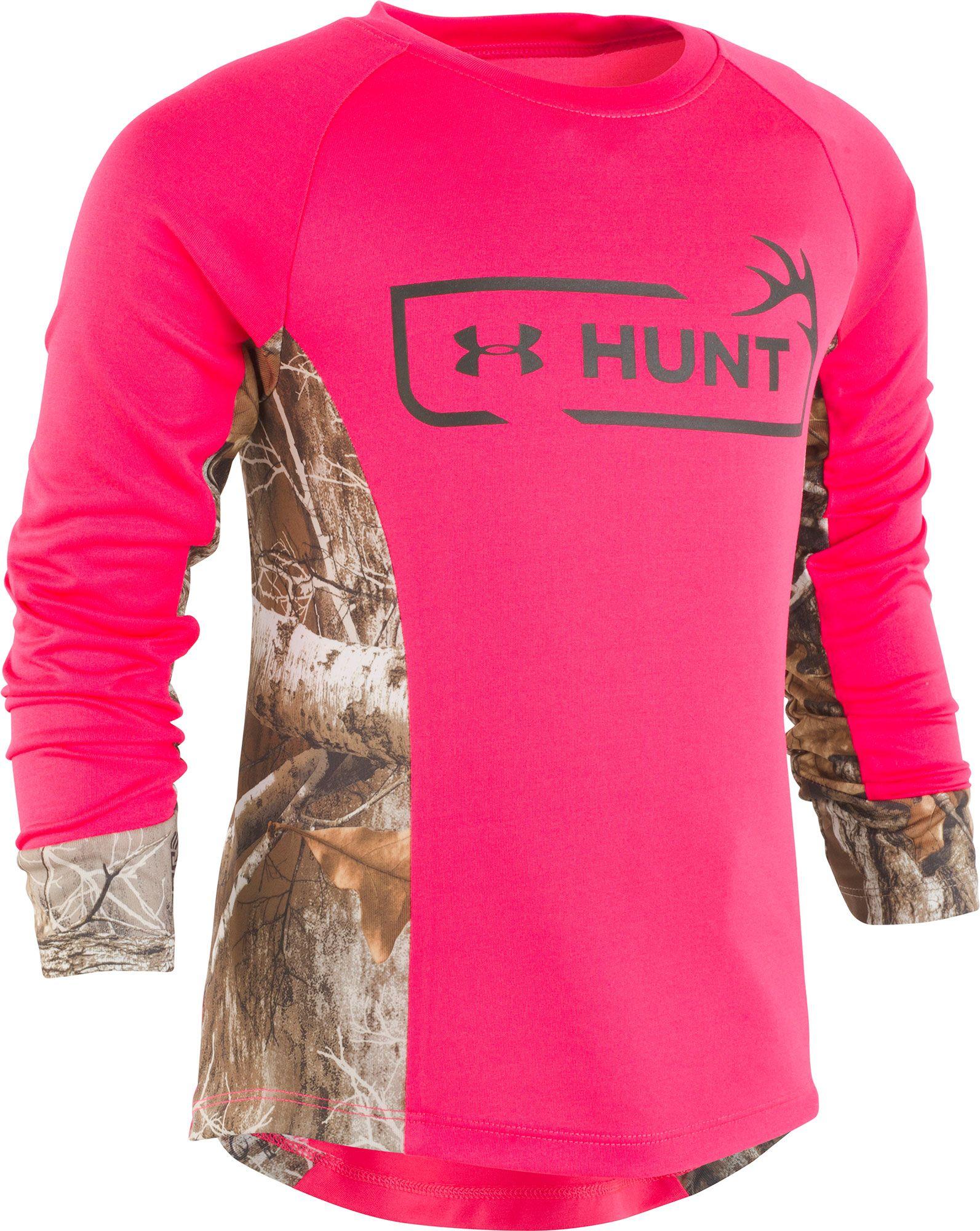 Under Armour Toddler Girls' Hunt Logo Long Sleeve Shirt, Girl's, Size: 3T, Penta Pink thumbnail