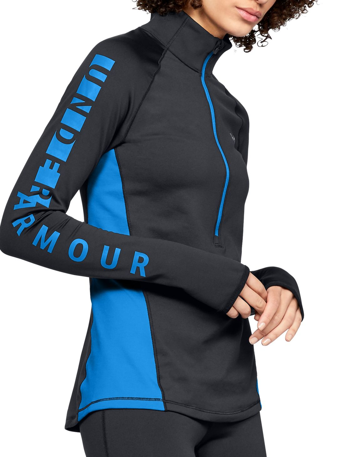 1cbce90eb7 Under Armour Women's ColdGear Armour Graphic ½ Zip Long Sleeve Shirt