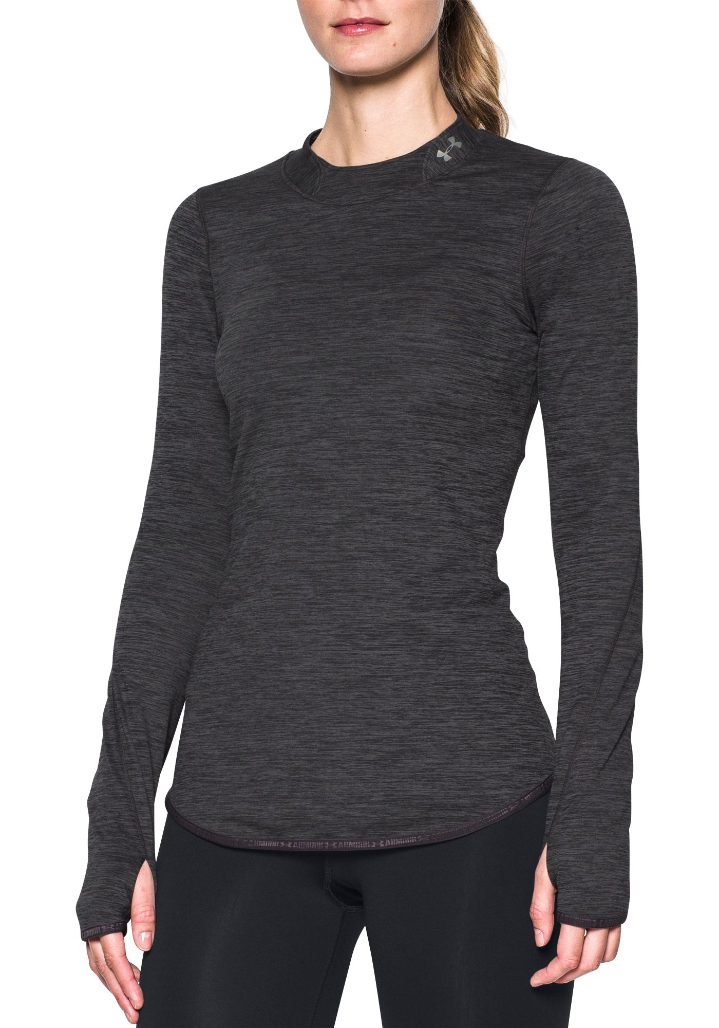 Under Armour Women's ColdGear Fitted Mock Neck Long Sleeve Shirt