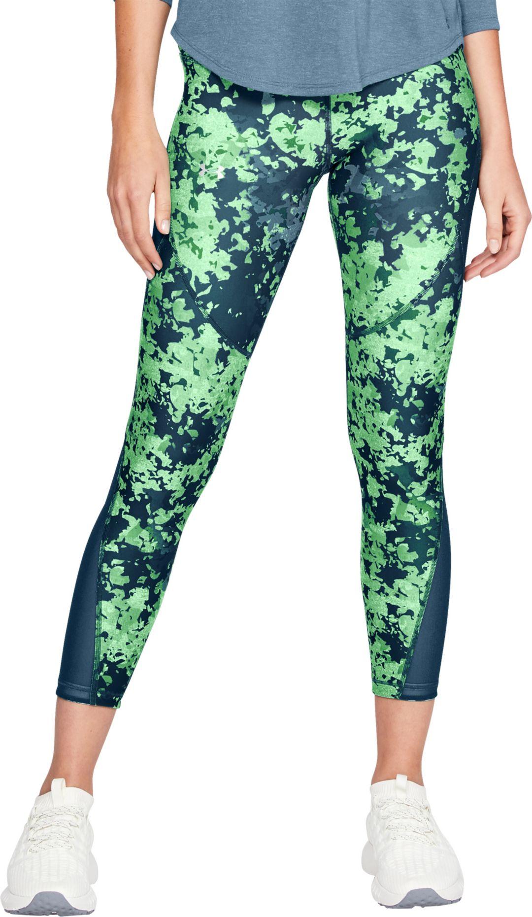 b624eea09d Under Armour Women's HeatGear Armour Print Ankle Crop 7/8 Leggings