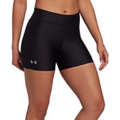Under Armour Women's HeatGear Middy Compression Shorts