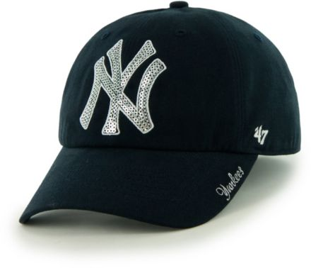 best loved 0c98e e4f97  47 Women  39 s New York Yankees Sparkle Clean Up Adjustable Hat.
