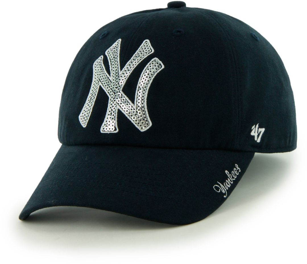 48bf2b766d4  47 Women s New York Yankees Sparkle Clean Up Adjustable Hat 1.