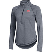 Under Armour Women's Auburn Tigers Grey Threadborne Quarter-Zip Performance Fleece