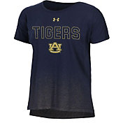 Under Armour Women's Auburn Tigers Navy Shimmer Performance T-Shirt