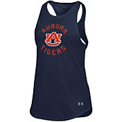 Under Armour Women's Auburn Tigers Blue Threadborne Spine Tank Top