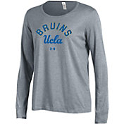 Under Armour Women's UCLA Bruins Grey Charged Cotton Long Sleeve Performance T-Shirt