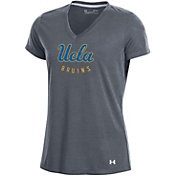Under Armour Women's UCLA Bruins Grey Threadborne V-Neck T-Shirt