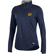 Under Armour Women's Cal Golden Bears Blue Charged Cotton Quarter-Zip Shirt