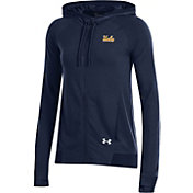 Under Armour Women's UCLA Bruins Navy Featherweight Fleece Full-Zip Hoodie