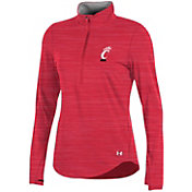 Under Armour Women's Cincinnati Bearcats Red Charged Cotton Quarter-Zip Shirt