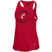 Under Armour Women's Cincinnati Bearcats Red Threadborne Spine Tank Top