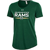 Under Armour Women's Colorado State Rams Green Charged Cotton Performance T-Shirt