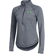 Under Armour Women's Colorado State Rams Grey Threadborne Quarter-Zip Performance Fleece