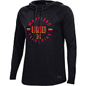 Under Armour Women's Maryland Terrapins Pinhole Funnel Black Hoodie