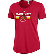 Under Armour Women's Maryland Terrapins Red Charged Cotton Performance T-Shirt