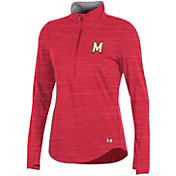Under Armour Women's Maryland Terrapins Red Charged Cotton Quarter-Zip Shirt