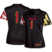 Under Armour Women's Maryland Terrapins #1 Replica Football Black Jersey