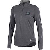 Under Armour Women's Notre Dame Fighting Irish Grey Charged Cotton Quarter-Zip Shirt