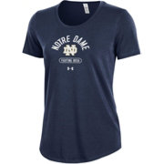 Under Armour Women's Notre Dame Fighting Irish Navy Charged Cotton Performance T-Shirt