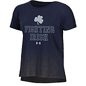 Under Armour Women's Notre Dame Fighting Irish Blue Shimmer Performance T-Shirt