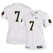 Under Armour Women's Notre Dame Fighting Irish #7 Replica Football White Jersey