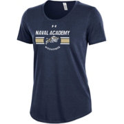 Under Armour Women's Navy Midshipmen Navy Charged Cotton Performance T-Shirt
